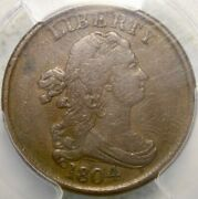 1804 Draped Bust Half Cent Appealing Scarce Sharp Spiked Chin Desirabl Ngc Vf 30
