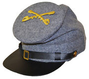American Civil War Confederate Cavalry Forage Cap With Badge Xlarge 60/61cms