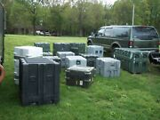Lot 17 Seventeen Military Surplus Storage Containers Cases Tool Job Box Army
