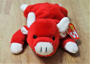 Ty Beanie Babies Retired 1995 Snort Handmade In China And No Star On Tush Tag