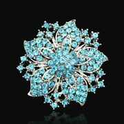 Large Flower Brooch With Rhinestone Fashion Brooches And Pins For Women