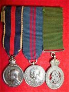 Colonial Auxiliary Forces Contemporary Silver Miniature Medal Group Of 3