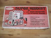 Toymaster Supermarket W/ Cash Register And Plastic Phone Never Out Of Box Rare