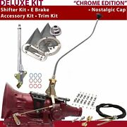 Th350 Shifter Kit 23 Swan E Brake Cable Clamp Trim Kit For D2f4d Trans Auto