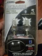 New Pair White Strobe Bolts Fasteners License Plate 12v Plus A New Pair Without