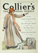 Antique Collier's Original National Weekly Magazine Selling American Cars 1910