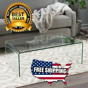 Coffee Table Glass Noble House Roman Tempered Clear