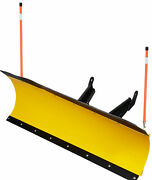72 Inch Denali Pro Utv Snow Plow Kit In Yellow With 2 Inch Receiver Plow Mount