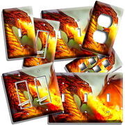 Mythical Fire Breathing Red Dragon Light Switch Outlet Wall Plates Room Hd Decor