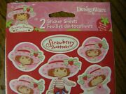 3434 Vntg Strawberry Shortcake Paper 2 Sheets Stickers American Greetings Seald