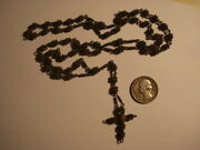 Antique Awesome Spanish Rosary Beads And Sterling Silver Museum Piece 17 Century