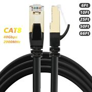 2019 Newest Cat8 Ethernet Cable 40gbps 2000mhz 26awg 6ft 10ft 25ft 50ft 66ft Lot