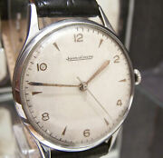C1950's Swiss Jaeger Lecoultre Oversize Mans Watch Cal P478/c Serviced Working