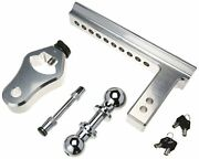 Trimax Trz12al 12 Premium Aluminum Adjustable Hitch With Dual Hitch Ball And T3