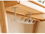 Under Desk Cable Management Tray Basket Self Adhesive Wire Rack For Home Office