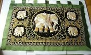 Unusual Richly Decorated Curtain Wall Decoration Hand-made Embroidery Made In I