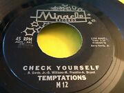 Early Motown Soul 45 Temptations Your Wonderful Love Miracle M 12