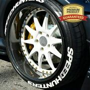 Speedhunters Permanent 4 Tire Lettering 8x Stickers 14-24 Tyre Decal Kit 1.25
