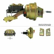 1963-66 Chevy Truck F.wall Mount Power 9 Single Brake Booster Kit Drum/drum Sbc