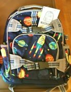 Pottery Barn Set Solar System Backpack +water Bottle+ice Bag Space School Planet