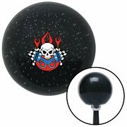 Skull And Pistons 2 Black Metal Flake Shift Knob With M16x1.5 Insert Early Scta
