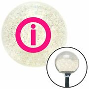 Pink Info Clear Metal Flake Shift Knob With M16 X 1.5 Insert Racing Bbc
