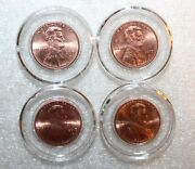 4 Airtite Direct Fit Coin Holder Capsules A19 - Lincoln Penny Indian Cent - New