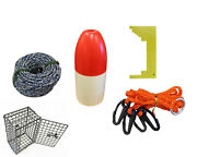 Kufa Crabbing Accessory Kit Lead Rope,clipper,harness,bait Cage And Float Ces-1