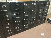 9 Black 4 Drawer Metal Filing Cabinets From Staples. Locking, Letter Sized.