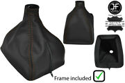 Brown Stitch Leather Manual Shift Boot+plastic Frame For Volvo 240 740 940