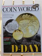 Coin World Magazine June Jun 2019 D-day Wwii With Us Index Of Coin Values Toc
