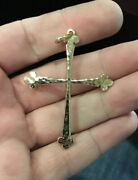 James Avery 14k Yellow Gold Hammered Cross Pendant Large/heavy