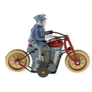 Vintage Wind-up Policeman Riding Motorcycle Crafts Clockwork Toys Collection