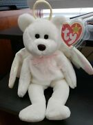 Ty Beanie Babies Halo Discontinued...white With Wings And Halo....excellent Cond