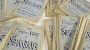 51 Volume Serial Publication The Complete Works Of Shakespeare 1870s