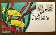 2019 Coral Reefs Fdc Staghorn Coral Hand Drawn Cachet Fish