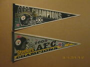Nfl Pittsburgh Steelers Vintage 1995 And 2005 Afc Champions Logo Football Pennants