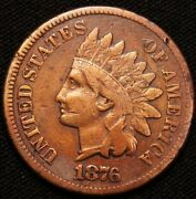 1876 Indian Head Penny / Better Date