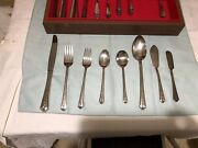 Vintage 1949 Inlaid Silver Plate Flatware, Holmes And Edwards Spring Garden