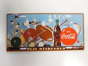 Drink Coca Cola Play Refreshed Coke Metal License Plate 1994 Sports Theme Sealed