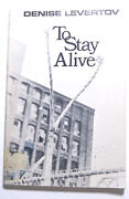 Signed Denise Levertov Poetry To Stay Alive Catholic Pro Peace Anti Vietnam War