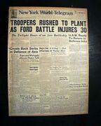 River Rouge Plant Henry Ford Motor Automobile Company Uaw Strike 1941 Newspaper