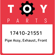17410-21551 Toyota Pipe Assy, Exhaust, Front 1741021551, New Genuine Oem Part
