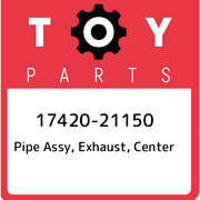 17420-21150 Toyota Pipe Assy Exhaust Center 1742021150 New Genuine Oem Part