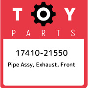 17410-21550 Toyota Pipe Assy Exhaust Front 1741021550 New Genuine Oem Part