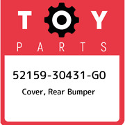 52159-30431-g0 Toyota Cover, Rear Bumper 5215930431g0, New Genuine Oem Part
