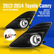 For 12-14 Toyota Camry Fog Lights Assembly Front Lamp Clear Wiring Kit+switch