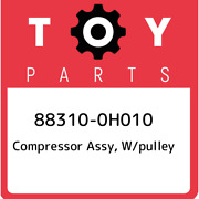 88310-0h010 Toyota Compressor Assy W/pulley 883100h010 New Genuine Oem Part