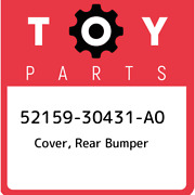 52159-30431-a0 Toyota Cover, Rear Bumper 5215930431a0, New Genuine Oem Part