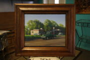 Signed Frank Dalton Oil Painting On Canvas